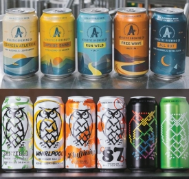Athletic Brewing and Night Shift Brewing Can Line Ups